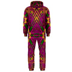 Feather Stars Mandala Pop Art Hooded Jumpsuit (Men)