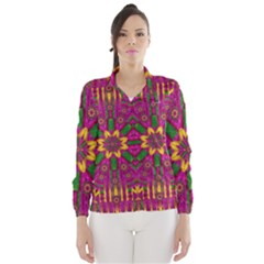 Feather Stars Mandala Pop Art Wind Breaker (Women)
