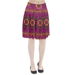 Feather Stars Mandala Pop Art Pleated Skirt