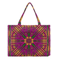 Feather Stars Mandala Pop Art Medium Tote Bag