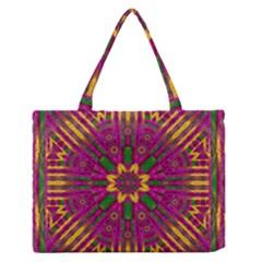 Feather Stars Mandala Pop Art Medium Zipper Tote Bag