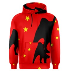 Pug China Flag Men s Pullover Hoodie