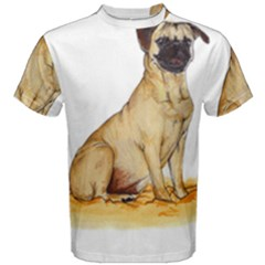 Pug Color Drawing Men s Cotton Tee