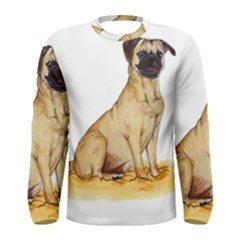 Pug Color Drawing Men s Long Sleeve Tee