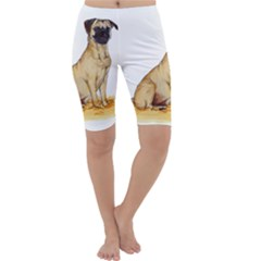 Pug Color Drawing Cropped Leggings
