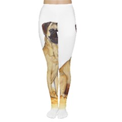 Pug Color Drawing Women s Tights