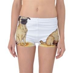 Pug Color Drawing Boyleg Bikini Bottoms