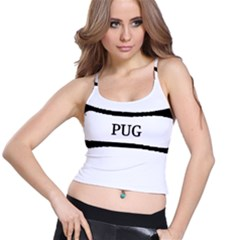 Pug Dog Bone Spaghetti Strap Bra Top