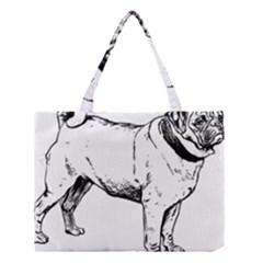 Pug Drawing Medium Tote Bag