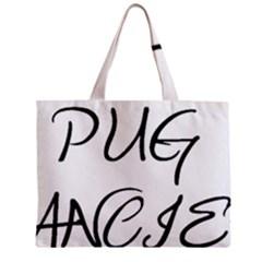 Pug Fancier Zipper Mini Tote Bag