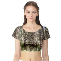Water Tower 1 Short Sleeve Crop Top (Tight Fit)