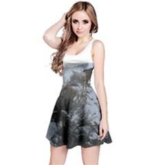 White Tail Deer 1 Reversible Sleeveless Dress