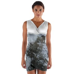 White Tail Deer 1 Wrap Front Bodycon Dress