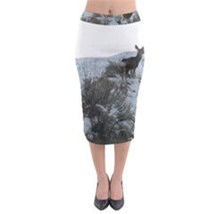 White Tail Deer 1 Midi Pencil Skirt