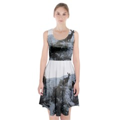White Tail Deer 1 Racerback Midi Dress