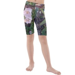 Wildflowers On The Boise River Kids  Mid Length Swim Shorts
