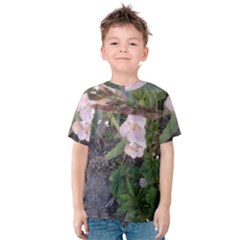Wildflowers On The Boise River Kids  Cotton Tee