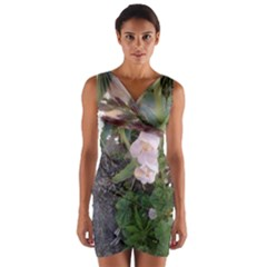 Wildflowers On The Boise River Wrap Front Bodycon Dress