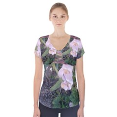 Wildflowers On The Boise River Short Sleeve Front Detail Top
