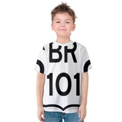 Brazil BR-101 Transcoastal Highway  Kids  Cotton Tee
