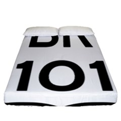 Brazil BR-101 Transcoastal Highway  Fitted Sheet (Queen Size)