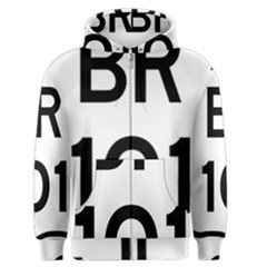 Brazil BR-101 Transcoastal Highway  Men s Zipper Hoodie