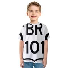 Brazil BR-101 Transcoastal Highway  Kids  Sport Mesh Tee