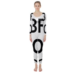 Brazil BR-101 Transcoastal Highway  Long Sleeve Catsuit