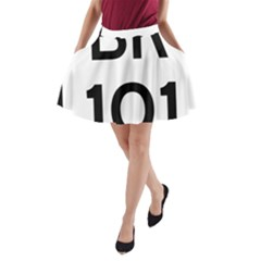 Brazil BR-101 Transcoastal Highway  A-Line Pocket Skirt
