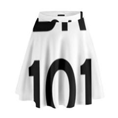 Brazil BR-101 Transcoastal Highway  High Waist Skirt