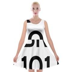 Brazil BR-101 Transcoastal Highway  Velvet Skater Dress