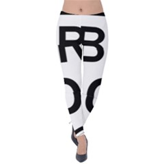 Brazil BR-101 Transcoastal Highway  Velvet Leggings