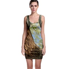 Willow Tree Reaching Skyward Sleeveless Bodycon Dress
