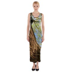 Willow Tree Reaching Skyward Fitted Maxi Dress
