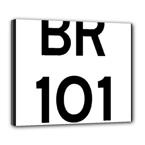 Brazil BR-101 Transcoastal Highway  Deluxe Canvas 24  x 20