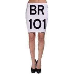 Brazil BR-101 Transcoastal Highway  Bodycon Skirt