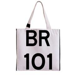 Brazil BR-101 Transcoastal Highway  Zipper Grocery Tote Bag