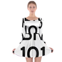 Brazil BR-101 Transcoastal Highway  Long Sleeve Skater Dress
