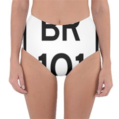 Brazil BR-101 Transcoastal Highway  Reversible High-Waist Bikini Bottoms