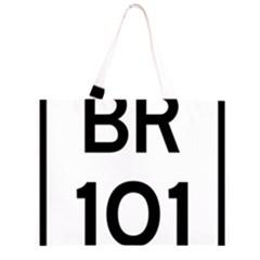 Brazil BR-101 Transcoastal Highway  Zipper Large Tote Bag