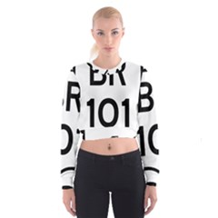 Brazil BR-101 Transcoastal Highway  Cropped Sweatshirt