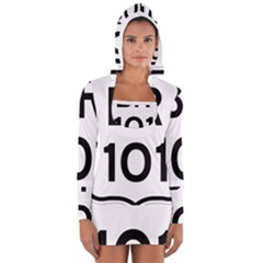 Brazil BR-101 Transcoastal Highway  Women s Long Sleeve Hooded T-shirt