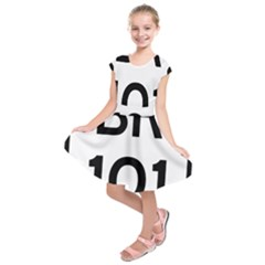 Brazil BR-101 Transcoastal Highway  Kids  Short Sleeve Dress