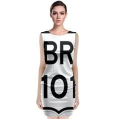 Brazil BR-101 Transcoastal Highway  Sleeveless Velvet Midi Dress