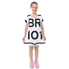 Brazil BR-101 Transcoastal Highway  Kids  Short Sleeve Velvet Dress