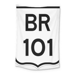 Brazil BR-101 Transcoastal Highway  Small Tapestry