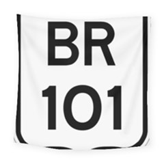Brazil BR-101 Transcoastal Highway  Square Tapestry (Large)
