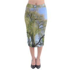 Willow Tree Midi Pencil Skirt