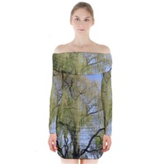 Willow Tree Long Sleeve Off Shoulder Dress
