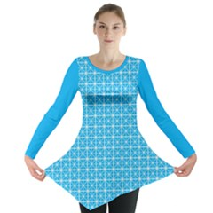 simple rectangular pattern Long Sleeve Tunic